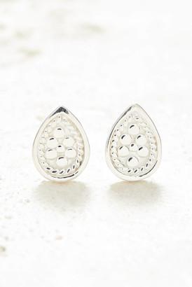Anna Beck Silver Teardrop Stud Earrings Silver