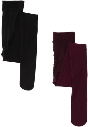 Josie By Natori Solid Control Tights - Pack of 2
