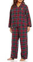 Lauren Ralph Lauren Plus Plaid Twill Pajamas