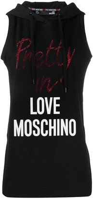 Love Moschino Hooded Logo Tank Top