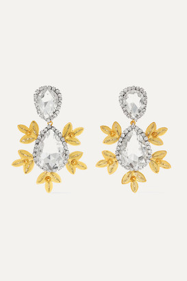 Mallarino Garance Crystal And Gold Vermeil Earrings