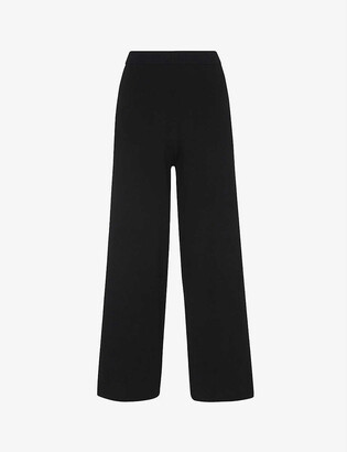 Whistles Knitted wide-leg trousers