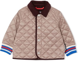 BURBERRY KIDS Corduroy-Trimmed Quilted Jacket
