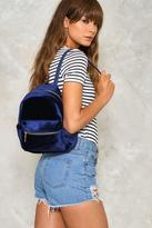 Nasty Gal nastygal WANT Put Your Hands On Velvet Backpack