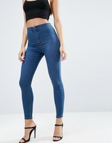 Asos Rivington High Waist Denim Jeggings in Mahogany Wash