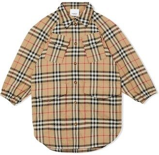 BURBERRY KIDS Vintage check shirt dress
