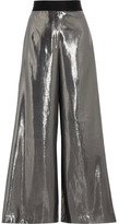 Opening Ceremony Alice Silk-blend Lamé Wide-leg Pants - Silver