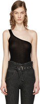 Isabel Marant Black Mantsy Single-shoulder Top