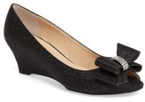 J. Renee Women's 'Blare' Bow Wedge Peep Toe Pump