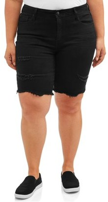 Rock & Stone Women's Plus Size Destructed Bermuda Short