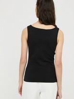 Monsoon Bridey Square Neck Vest Top - Black