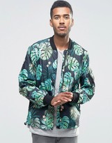 French Connection Printed Camo Bomber Jacket