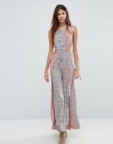 Raga Serena Side Cut Printed Maxi Dress