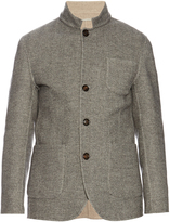 Brunello Cucinelli Wool and cashmere-blend herringbone jacket