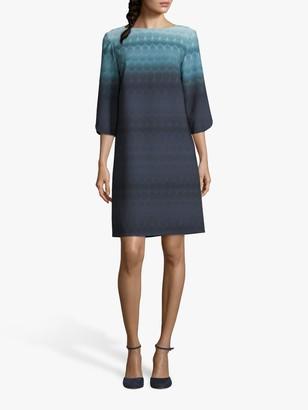 Betty & Co. Graphic Print Dress, Blue/Petrol