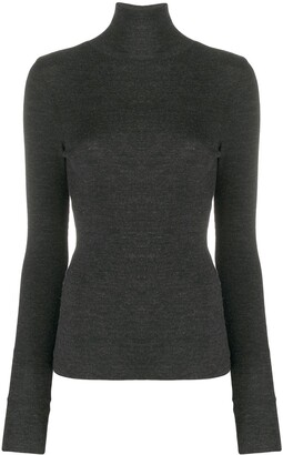 AMI Paris Turtle Neck Ribbed Jumper