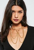 Missguided Gold Ring Detail Layered Necklace
