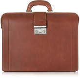 Pineider Medium Reddish Brown Leather Diplomatic Briefcase