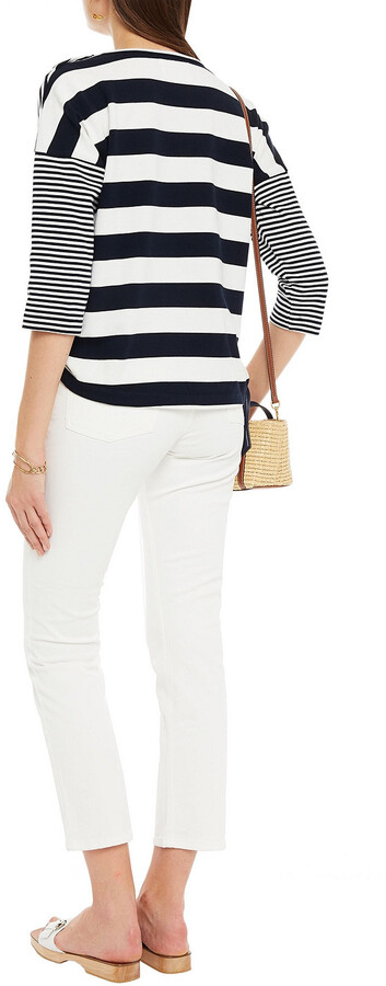 Thumbnail for your product : BA&SH Cropped High-rise Slim-leg Jeans