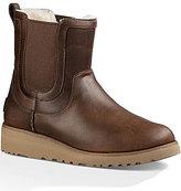 UGG Britt Leather Wedge Booties