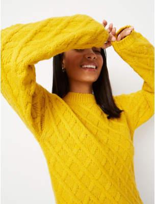 George Yellow Cross Knit Jumper