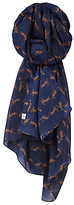 Joules Wensley Hare Print Scarf, Navy