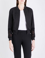 French Connection Francisco lace-jacquard bomber jacket