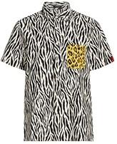 R 13 Tony Mixed Animal Print Shirt