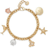 Charter Club Under The Sea Gold-Tone Charm Bracelet, Created for Macy's