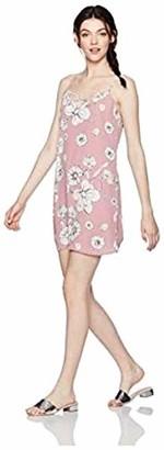 Love, Fire Love Fire Women's Printed Lattice Slip Dress