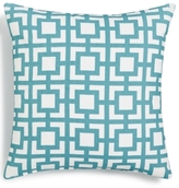 "LAST ACT! Hallmart Collectibles Blue Geo-Print 18"" Square Decorative Pillow"