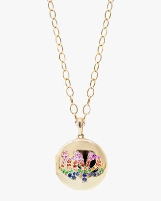 Anzie Love Starburst Long Chain Locket Necklace