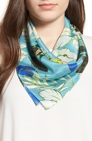 Women's Halogen Paradise Floral Silk Square Scarf