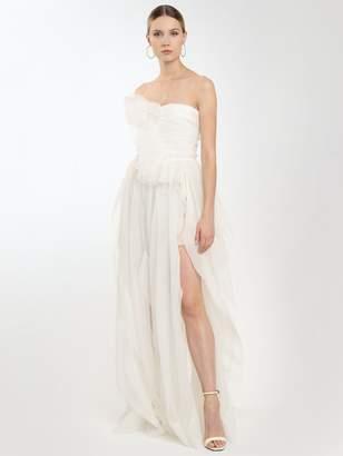 Ermanno Scervino Lvr Exclusive Strapless Silk Dress