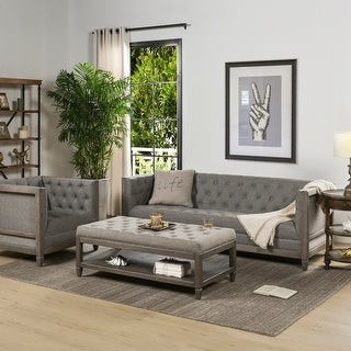 The Gray Barn Fairview Farmhouse Oak Tuxedo Sofa