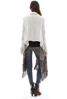 Nightcap Clothing Poncho Scarf Sweater in Shades of Grey