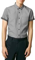 Topman Monochrome Print Short Sleeve Shirt