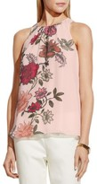 Vince Camuto Womens Chiffon Floral Print Tunic Top