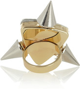 Noir Gold-plated crystal ring