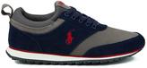 Polo Ralph Lauren Men's Ponteland Suede Sports Trainers Newport Navy/Charcoal Grey