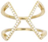 Rachael Ryen - Open Cross Pave Ring - Gold