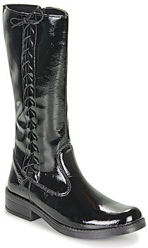 Citrouille et Compagnie LAMINOTE girls's High Boots in Black