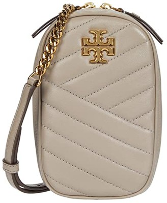 Tory Burch Kira Chevron North/South Crossbody (Black) Handbags