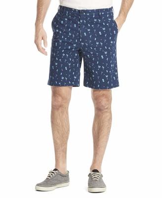 Izod Men's Saltwater Stretch Tropical Print Shorts Pants