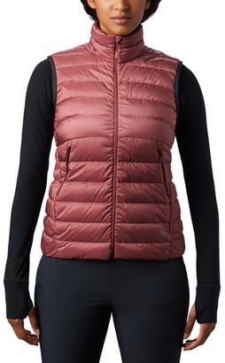 Mountain Hardwear Women's Outerwear Vests 679-Washed - Washed Rock Red Rhea RidgeTM Down Puffer Vest - Women