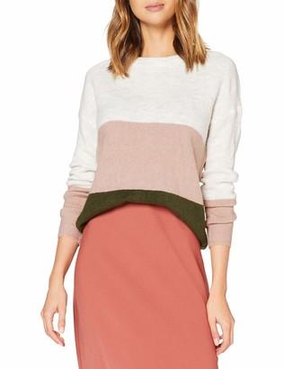 JDY Women's JDYELANORA L/S Stripe Pullover KNT NOOS Sweater