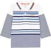 HUGO BOSS Striped cotton polo shirt 6-36 months