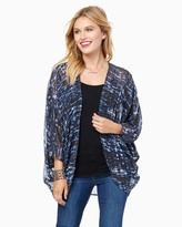 Charming charlie Blue Lights Cocoon Wrap