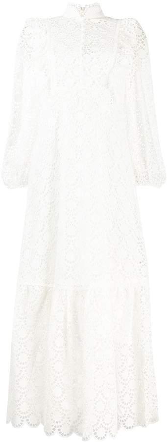 Zimmermann embroidered flared dress