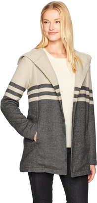 Cupcakes And Cashmere Women's Clark Two Tone Striped Jacket